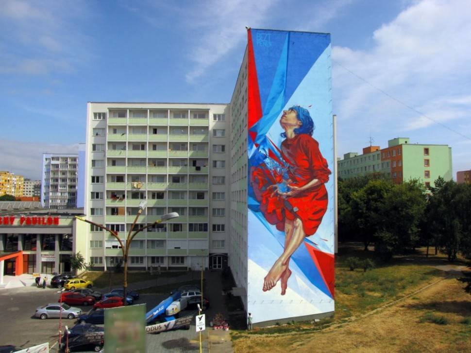 The Healer Tower Block Art por Bezt and Pener - Polonia 1