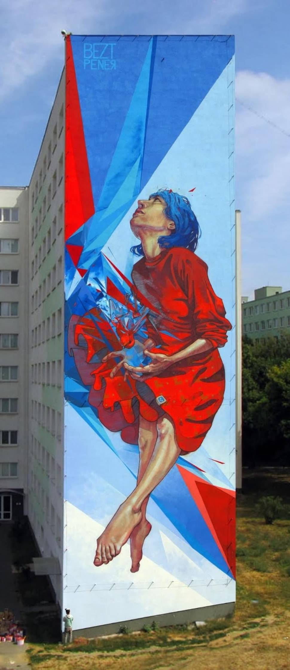 The Healer Tower Block Art por Bezt and Pener - Polonia 2