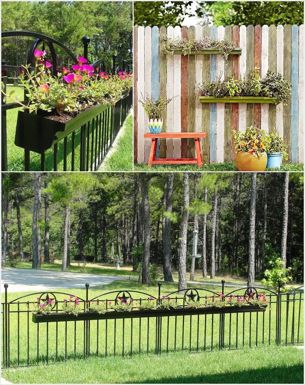 10 ideas para decorar la valla de tu jard n for Carretillas de adorno para jardin