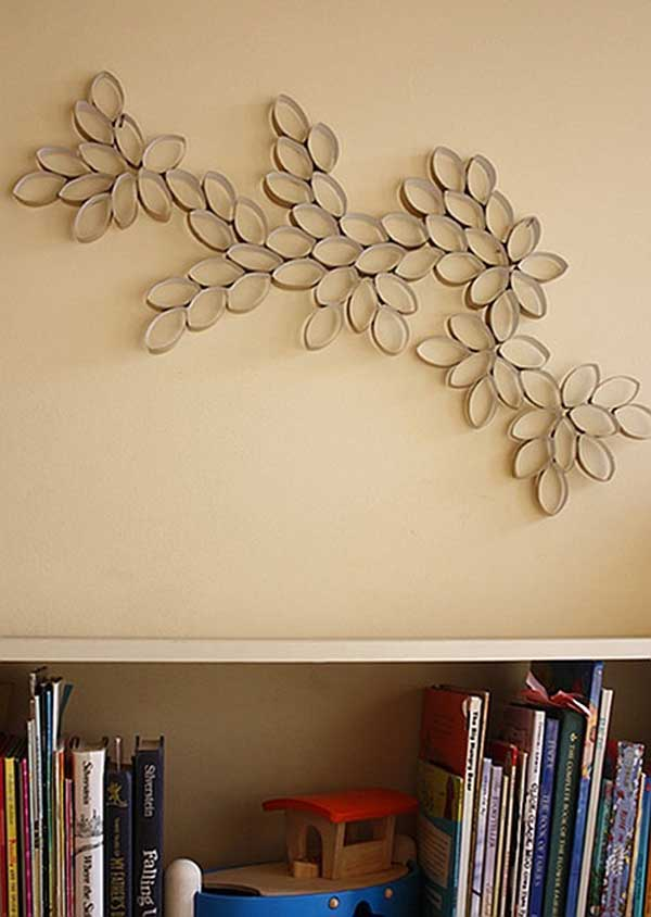 30 ideas de murales para pared hechos con rollos de papel for Murales para pared