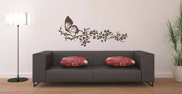 10 ideas para decorar la pared del sof - Vinilos pared ikea ...